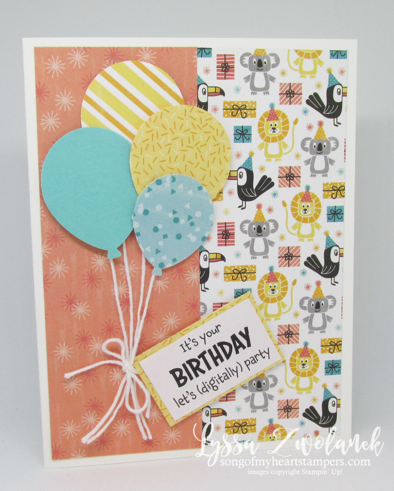 Quarantine funnies Stampin Up giveback digital ZOOM COVID birthday