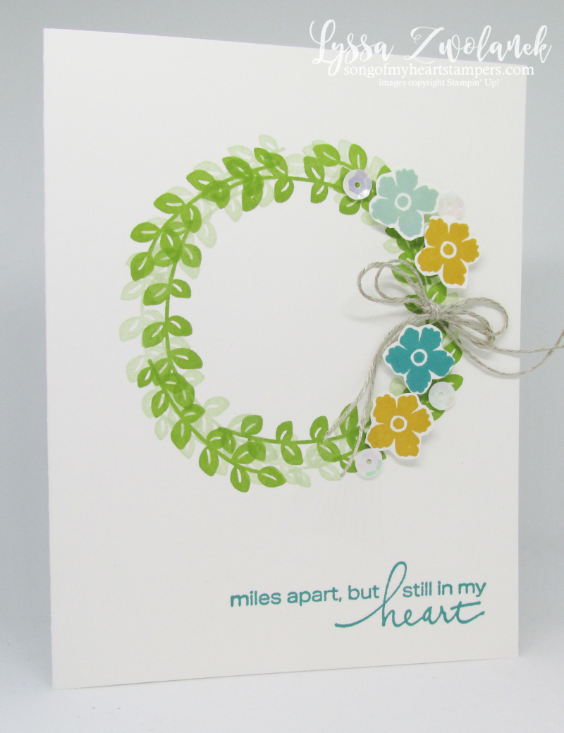 Lovely You clean simple Lyssa Stampin Up spring wreath card ideas rubber stamps