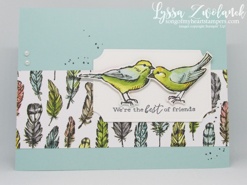 Bird ballad free birds rubber stamps Stampin Up class cardmaking scrapbooking songbird layouts sketches