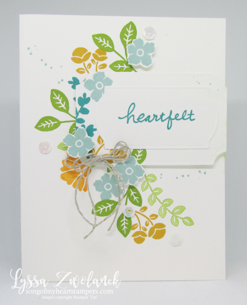 Lovely You clean simple Lyssa Stampin Up card ideas free tutorials rubber stamps