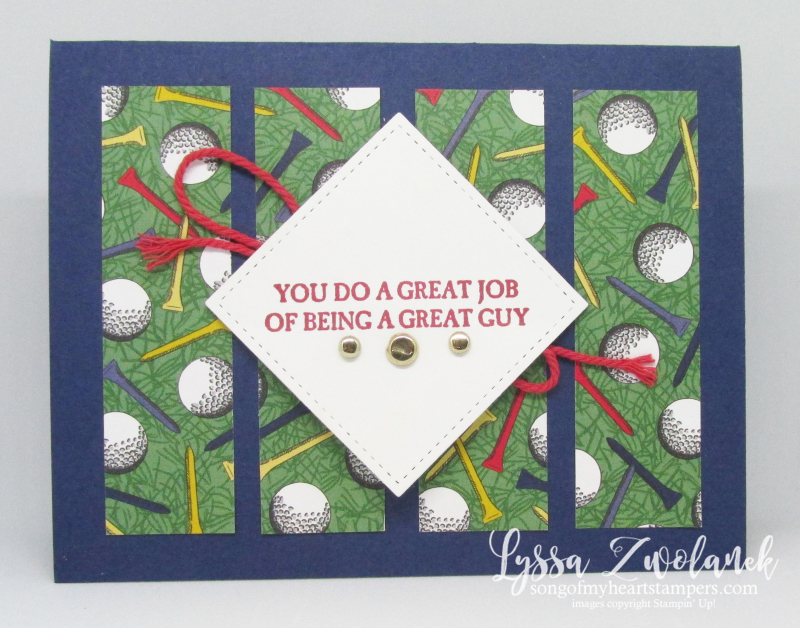 Country Club golf outdoor masculine papers father dad wonder osw cards Stampin Up