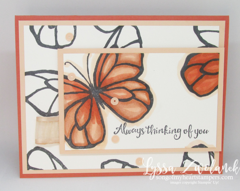 Beautiful Day Stampin Up cardmaking DIY rubber stamps thinking of you