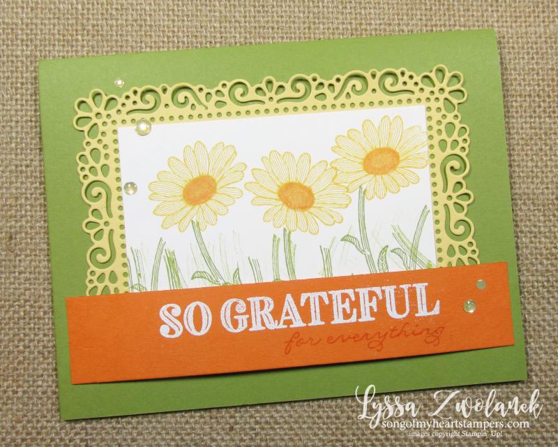 Ornate Frames thanks Stampin Up daisies dies diecutting embossing machine
