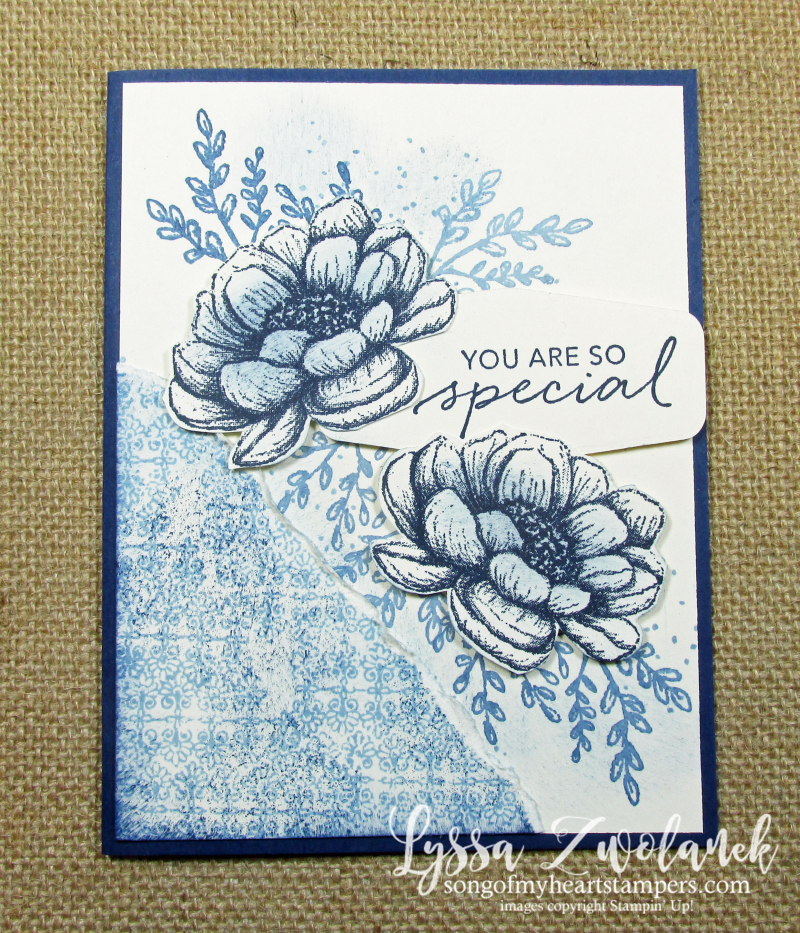 Tasteful Touches Good Taste Stampin Up blue white willow ware inspired card ideas