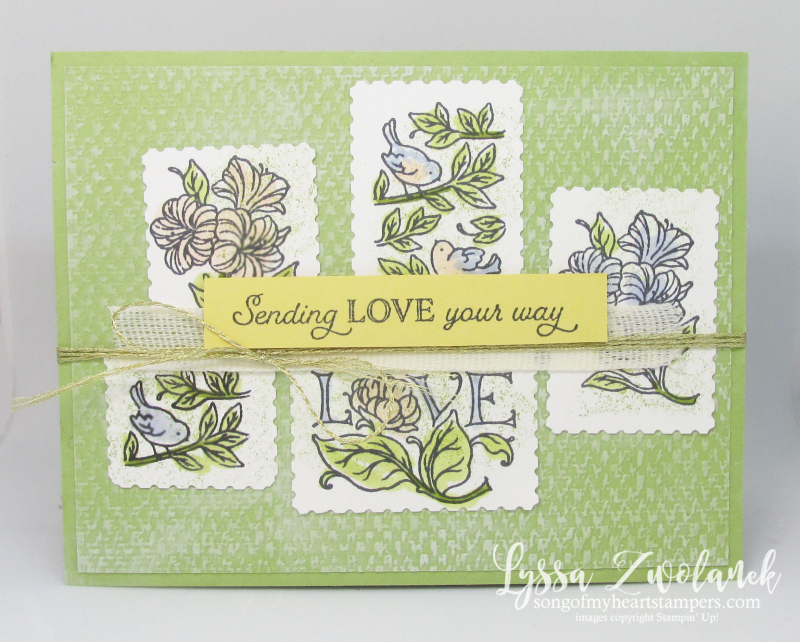 Postage Stamp Punch posted for you Stampin Up happy mail rubber stamps cardmaking