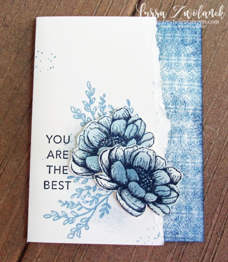Tasteful Touches Stampin Up in good taste roses monochrome vintage sponged cardmaking DIY