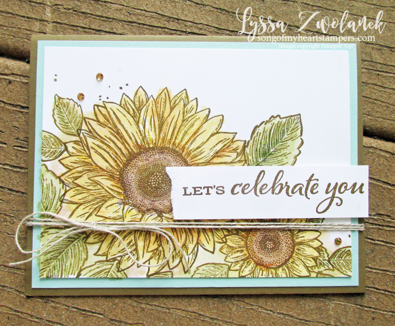 Serene Sunflowers field farm Stampin Up cardmaking supplies rubber stamps techniques