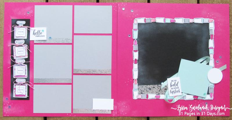 Dressed Impress Stampin Up 12x12 scrapbook pages layout ideas Paris 31 days Lyssa