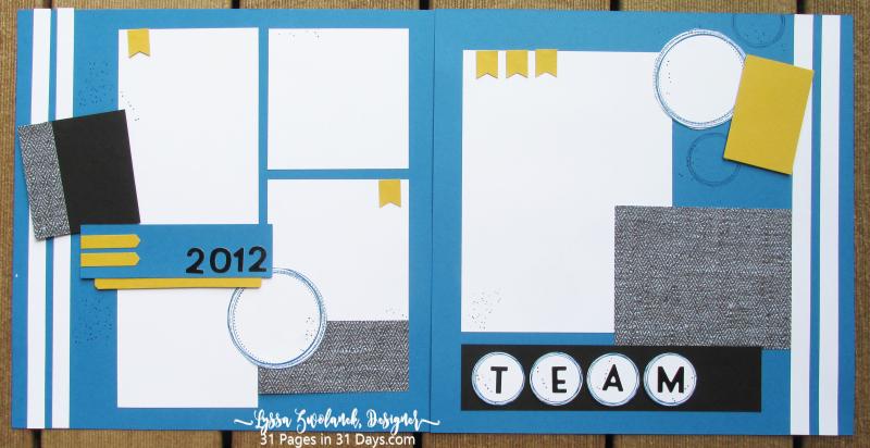 31 Pages Days sports layout scrapbook album team color one sheet wonder ideas