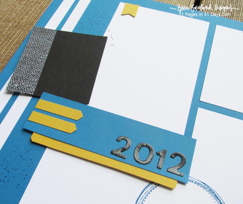 31 Pages Days sports layout scrapbook album team colors one sheet wonder ideas