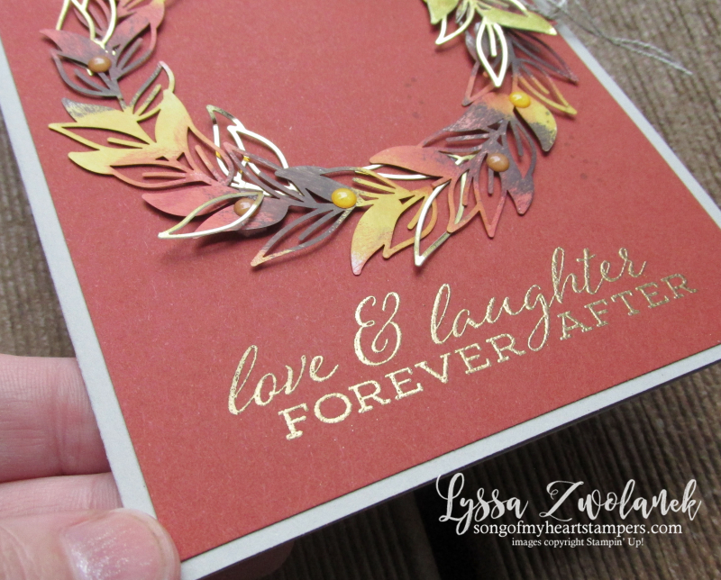 Forever greenery gold ferns Stampin Up Lyssa cardmaking supplies autumn wreath rubber stamps