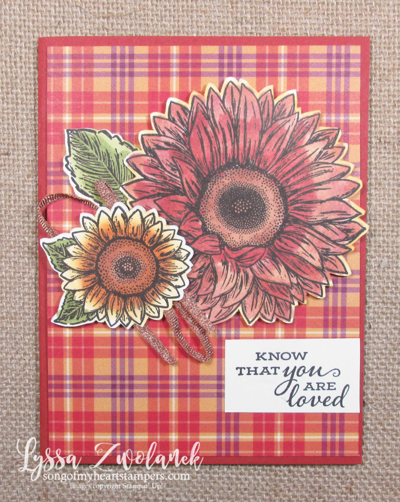 Celebrate Sunflowers Plaid Tidings papers Stampin Up sale 12x12 6x6 cards patterned