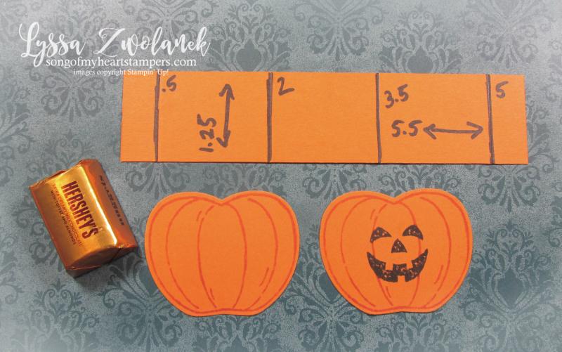 Halloween DIY candy corn paper crafting scrapbook embellishment treat bags holder Stampin Up