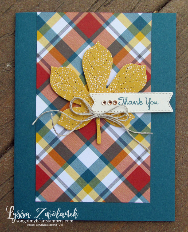 One sheet wonder My layout Library Lyssa Stampin Up demonstrator technique tutorial cardmaking autumn ideas