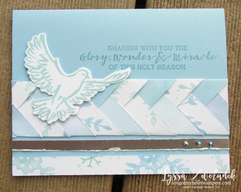 Braided paper technique Lyssa Stampin Up Snowflake Splendor 12x12 papers cardmaking scrapbooking