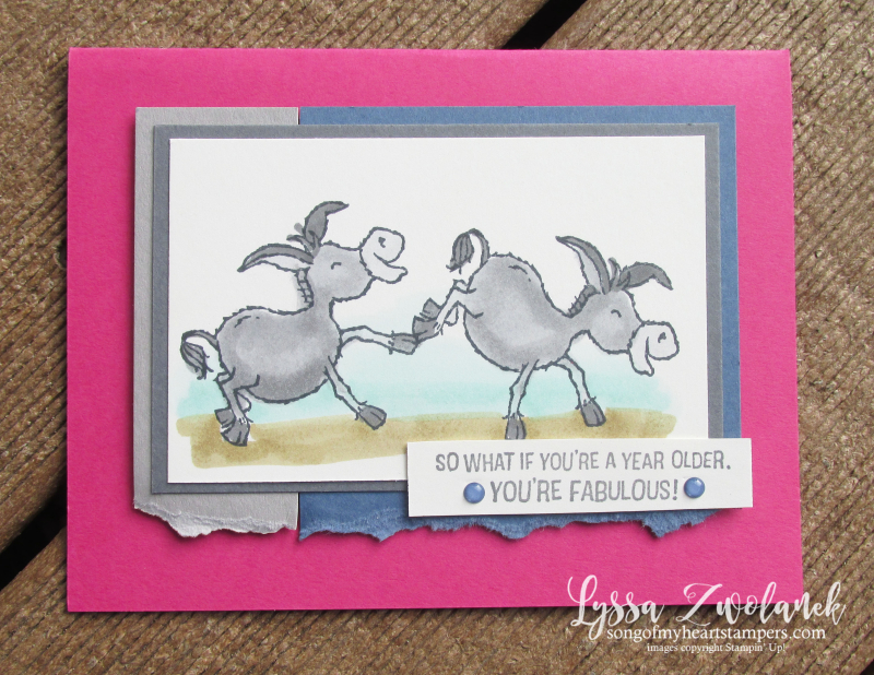 Darling Donkeys Lyssa SAB Stampin Up free set printable idea sheet cardmaking DIY