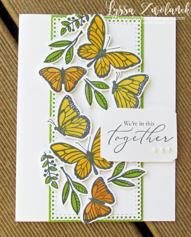 Butterfly floating fluttering Stampin Up spring stamp sets techniques Lyssa