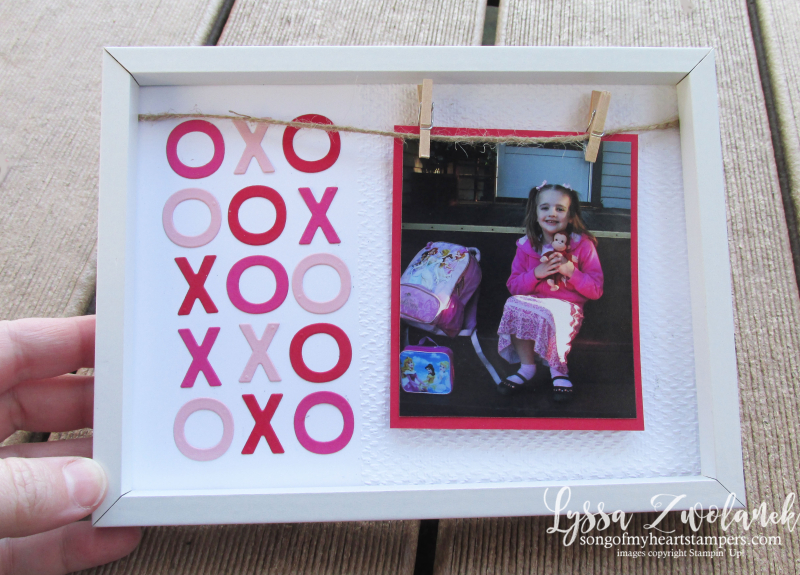 Valentine blog series Penni Lyssa Stampin Up easy ideas kids adults cardmaking photo frame clothesline