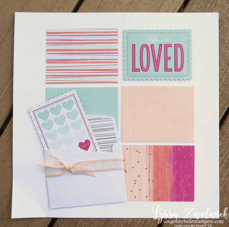 Valentine Keepsakes ten easy scrapbook layout 10 minutes Lyssa Stampin Up