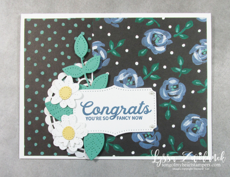 Field flower flowering pretty papers packs Stampin Up saleabration paper blooms Lyssa cards stamps