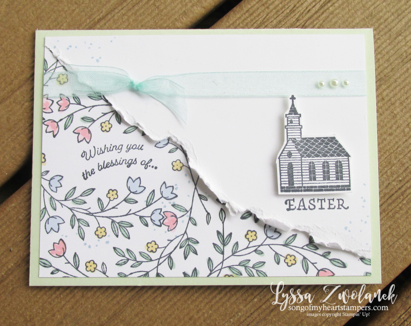 Gift of Hope Easter ressurection Sunday rubber stamps Stampin Up Lyssa cardmaking