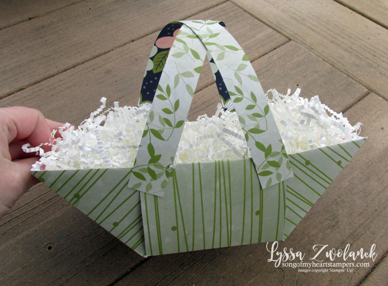 Double Decker Easter Basket stampin up Lyssa boxes bags 3d tutorial free scrapbook paper 12x12