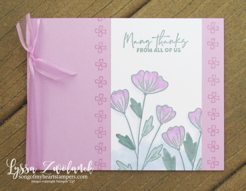 Fresh Freesia Stampin Up colors inkpad refill reinker pads rubber stamps simple supplies