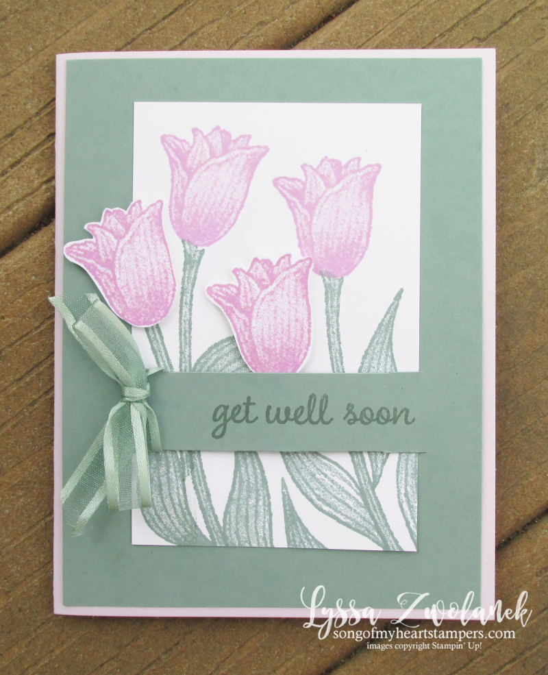 Fresh Freesia Stampin Up colors inkpad refill reinker pads rubber stamps tulips supplies