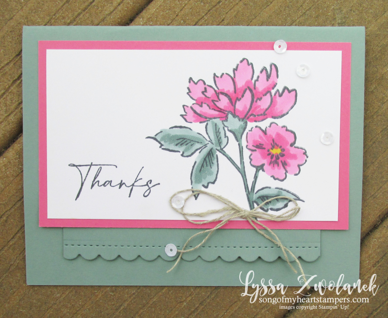 Hand Penned Perfectly Stampin Up polished pink blends marker alcohol cardmaking coloring