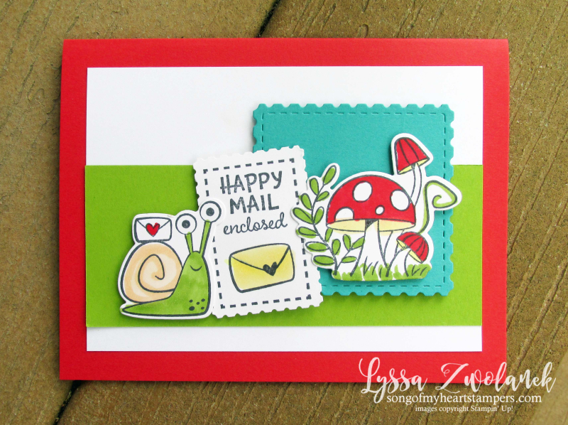 Snail Mail funny rubber stamps Stampin Up cards DIY make your own birthday