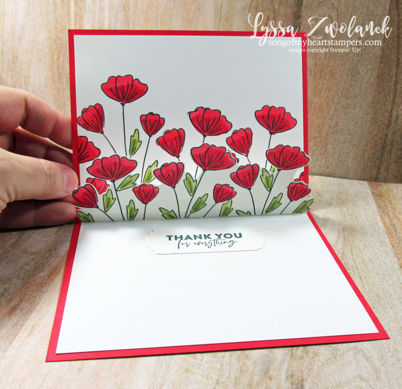 Flowers of Friendship Stampin Up poppies field punch bundle DIY cardmaking ideas online class Lyssa