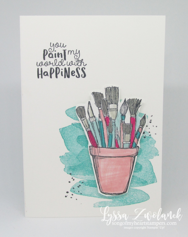Starts with art Stampin up follow crafting forever supplies creative artist stamp paint