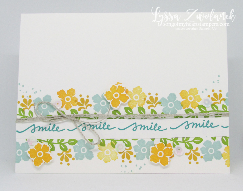 Lovely You clean simple Lyssa Stampin Up card ideas wreath tutorials rubber stamps