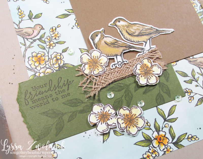 Suite Sampler Bird ballad My Layout Library Lyssa Stampin Up scrapbook pages 12x12
