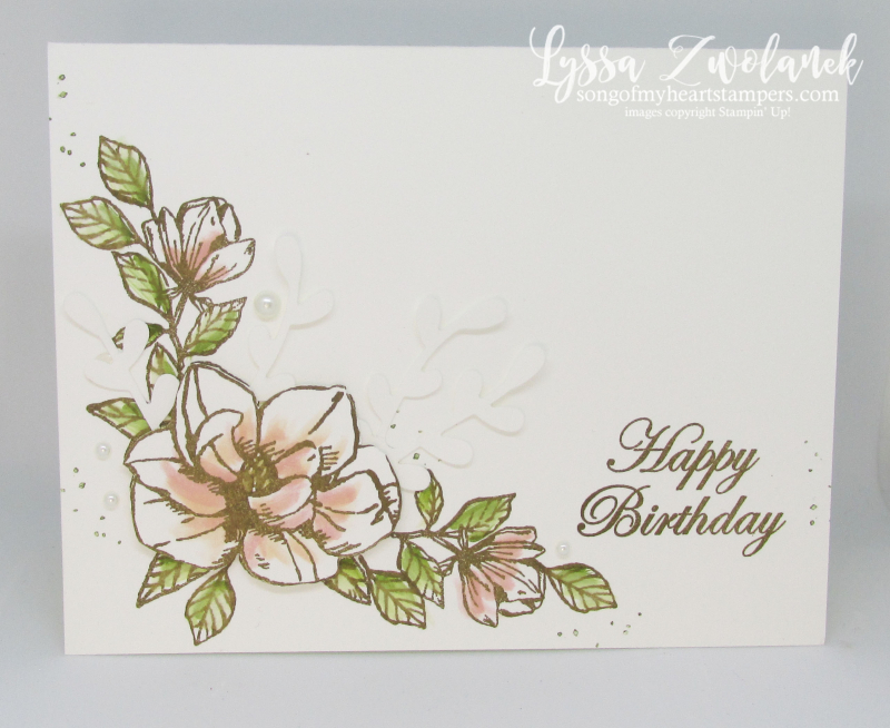 Magnolia Blooms Stampin Up clean simple card ideas DIY stationery