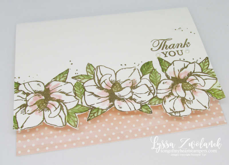 Magnolia Blooms Stampin Up clean simple card ideas DIY southern stationery