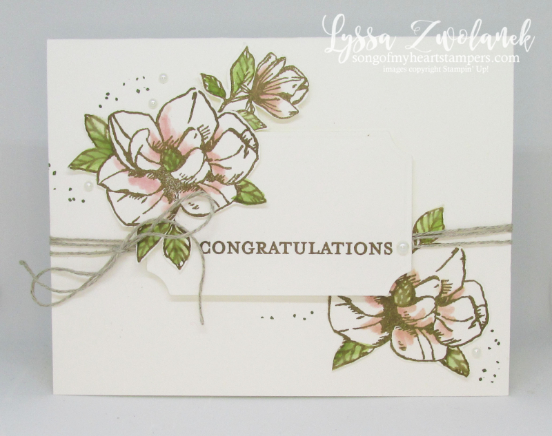 Magnolia Blooms Stampin Up clean simple card ideas DIY wedding stationery