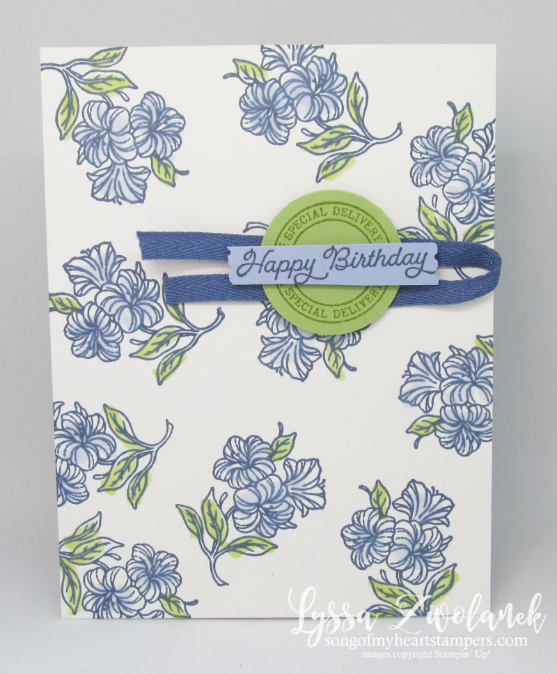 Postage Stamp Punch posted for you Stampin Up happy mail rubber cardmaking