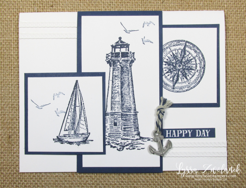 Come Sail Away lighthouses beach father Stampin Up masculine card stamps