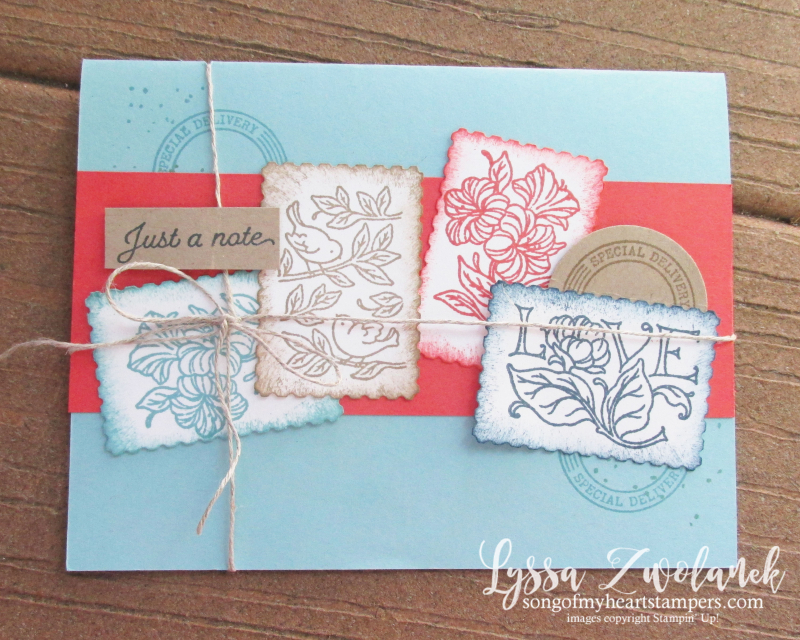 Posted for You bundle stamps postage Stampin Up cardmaking supplies free catalog