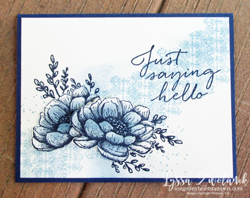 Tasteful Touches Stampin Up in good taste roses monochrome vintage sponged rubber stamps DIY
