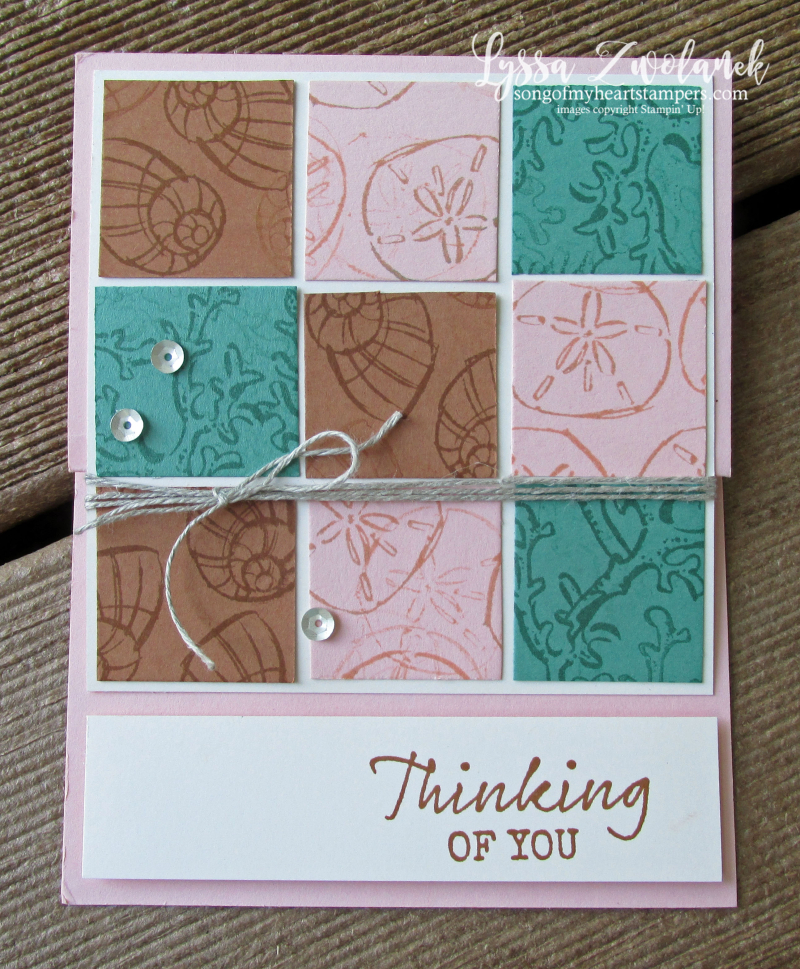 Seaside notions Stampin Up shore ocean beach shell stamps paper supplies