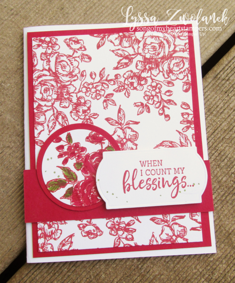 Count Blessings Twice Stampin Up fancy phrases making cards DIY rubber stamp