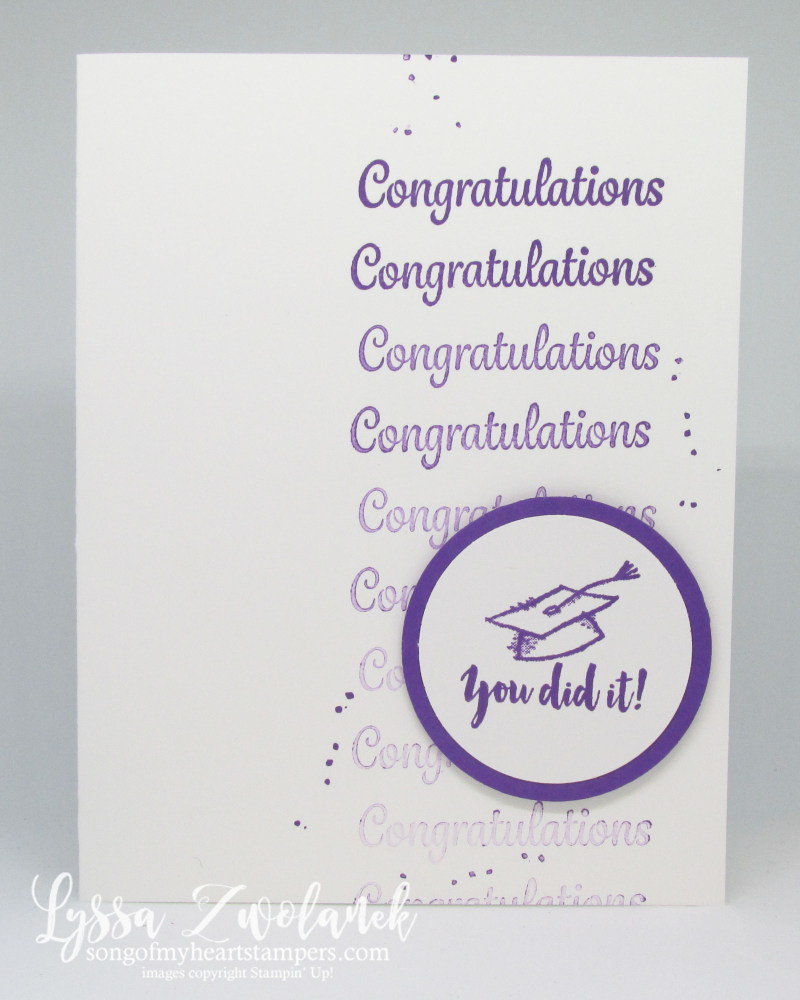 Graduation Stamparatus card DIY cardmaking Stampin Up grad congratulations ideas