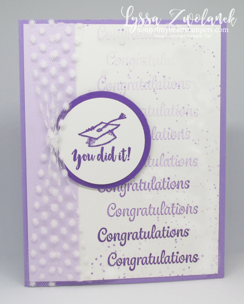 Graduation Stamparatus card DIY cardmaking Stampin Up grad congrats ideas