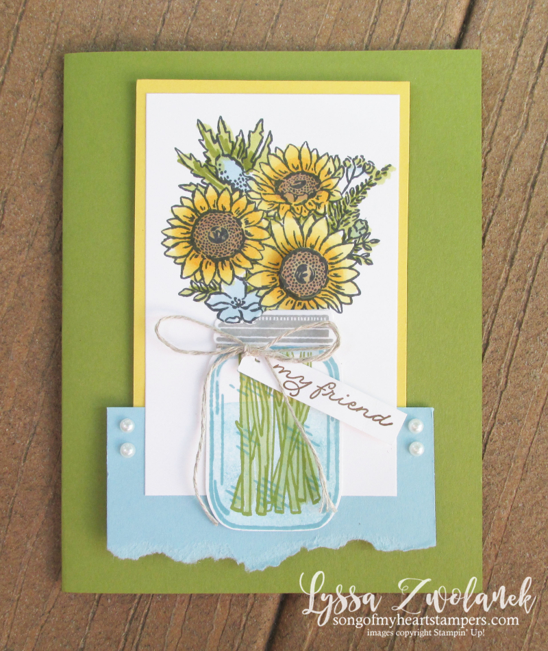 Jar of Flowers Ornate Thanks Stampin Up cardmaking DIY rubber stamping mason ball punch tutorials