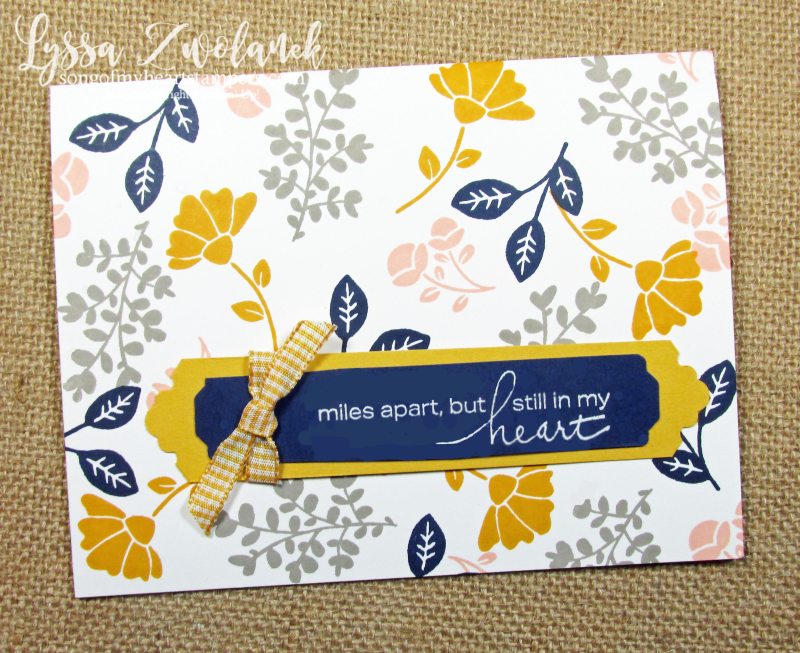Lovely You Leaves Stampin Up miles apart heart DIY cardmaking supplies tutorials