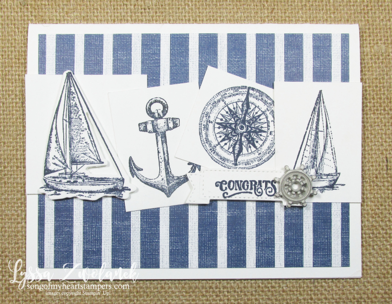 Come Sail Away lighthouses beach father dad Stampin Up masculine card stamps