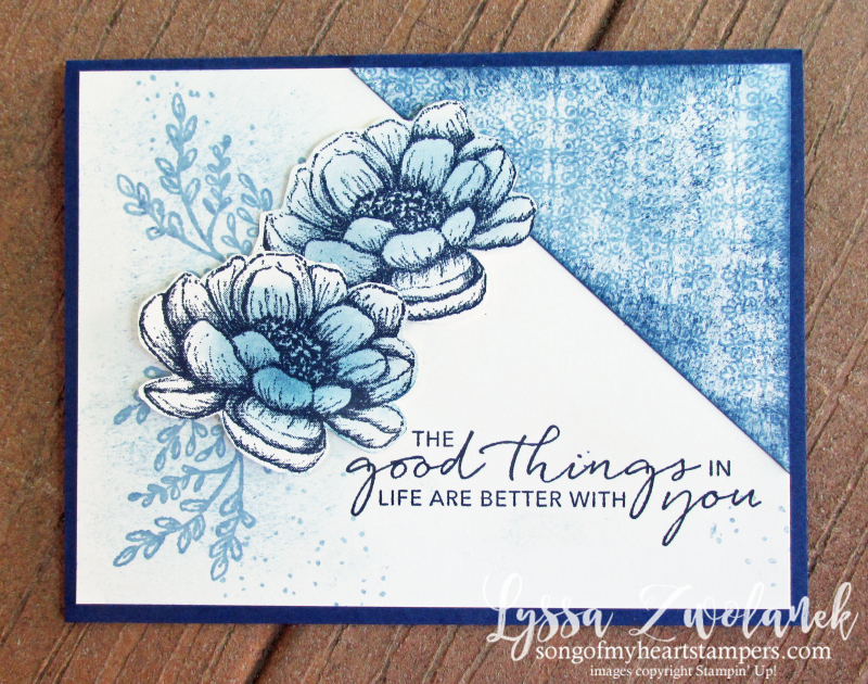 Tasteful Touches Stampin Up in good taste roses monochrome vintage sponged free tutorials DIY