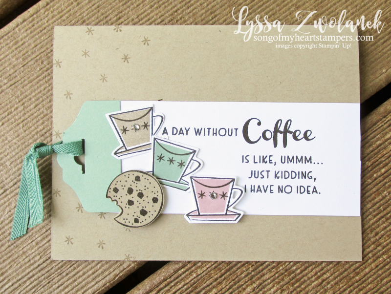 Nothing better than chocolate coffee cookies Stampin Up rubber stamps supplies cardmaking DIY